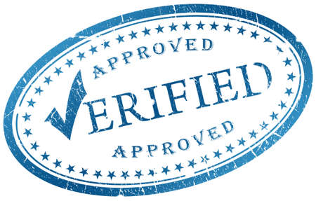 Verified stamp Stock Photo - 7466251