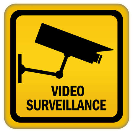Video surveillance sign photo