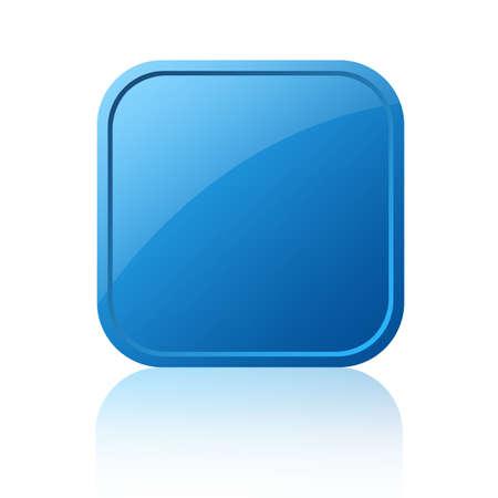 knopf: Leere Quadrat-Taste  Lizenzfreie Bilder