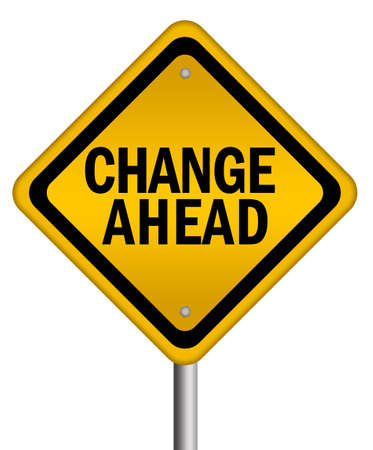 business change: Change ahead isolated sign
