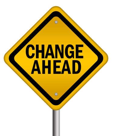 risks ahead: Signo de cambio aislado por delante