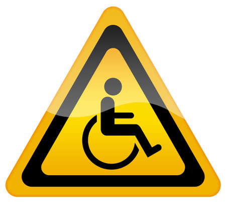 inability: Handicap disabled sign