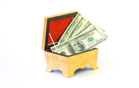 Case full of money isolated on white background Stock Photo - 8101085