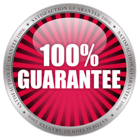 aftersale: 100 guarantee label Stock Photo