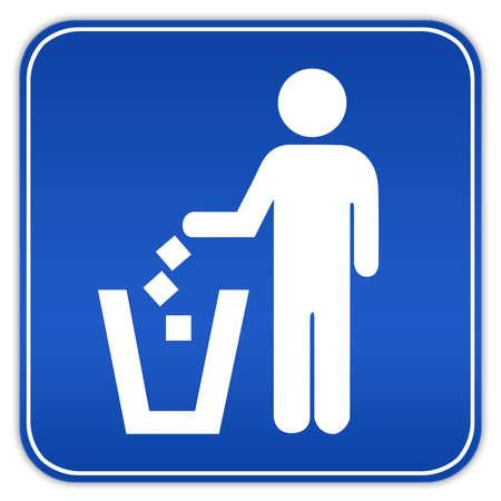 poubelle bleue: Aucun signe tra�nent