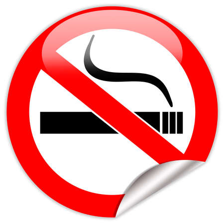not allowed: No smoking sign
