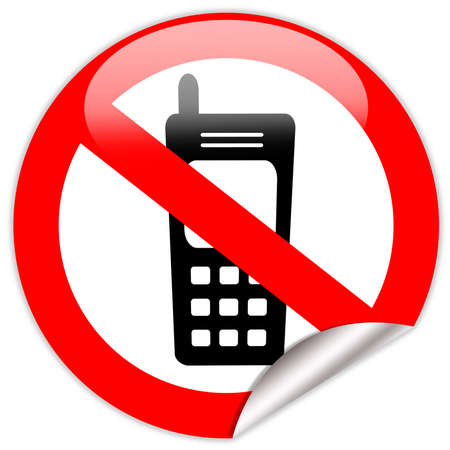 restrictions: No cell phone sign