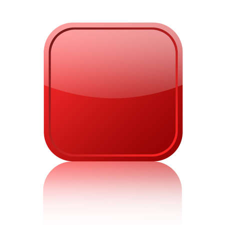 Red blank button Stock Photo - 8101081