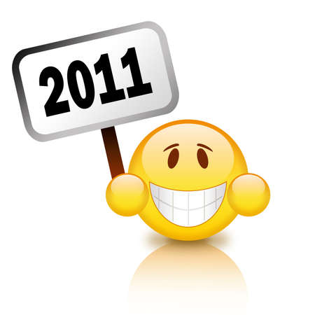 2011 happy new year sign Stock Photo - 8101097