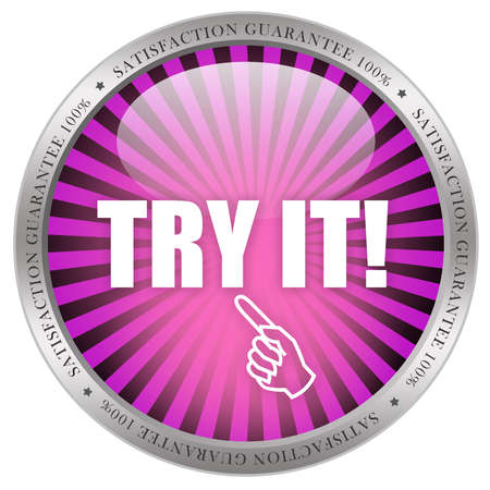 try: Try it icon Stock Photo