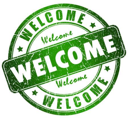 bienvenida: Sello de bienvenida  Foto de archivo