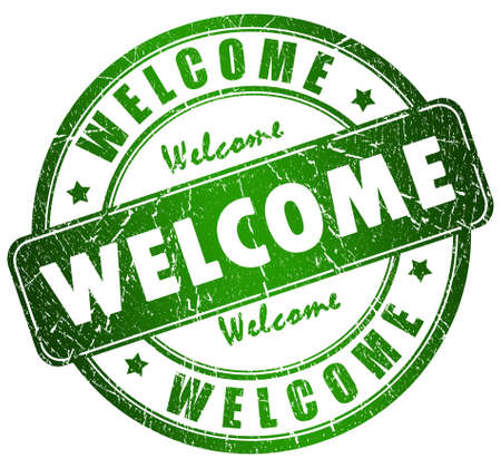 bill board: Welcome stamp