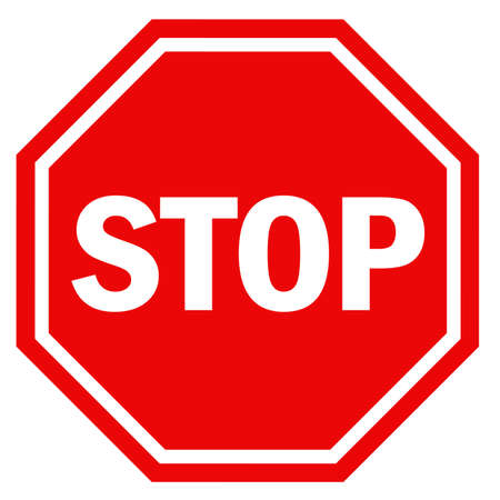 restricted access: Stop sign Stock Photo