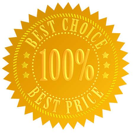 best seller: Best choice label