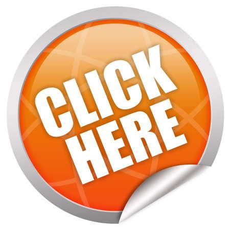 Cliquez ici icône  Banque d'images