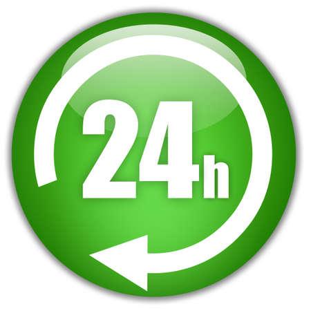 24 7: Open 24 hours Stock Photo