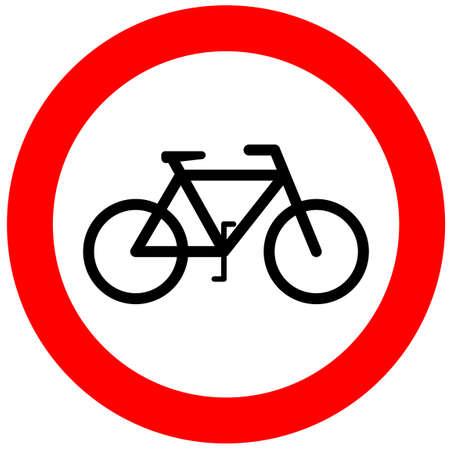 interdiction: Aucun signe de bicyclette