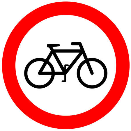 parking is prohibited: No bicycle sign