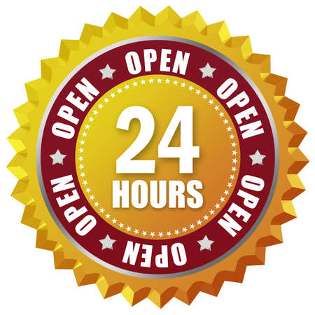 Open twenty four hour Stock Photo - 8157741