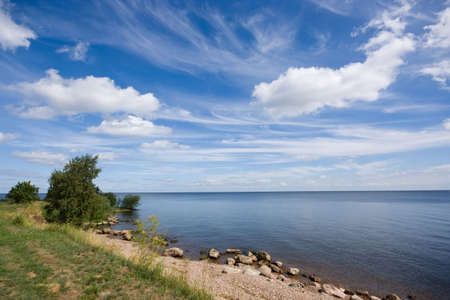 Blue sky and sea photo
