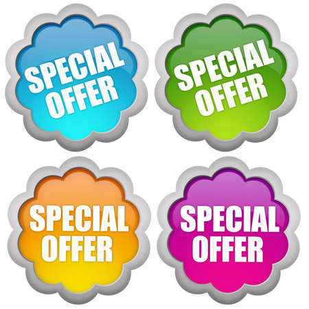 Specail offer sticker photo