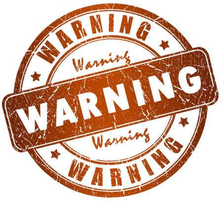 Warning stamp photo