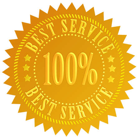 customer service icon: Best service seal