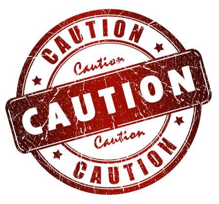 Caution stamp photo