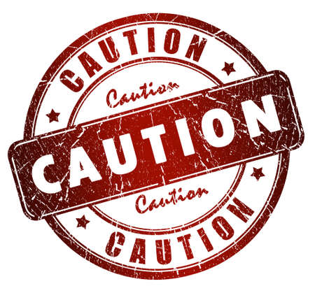 classified: Caution stamp Stock Photo