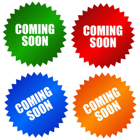 Coming soon stickers set Stock Photo - 8222774