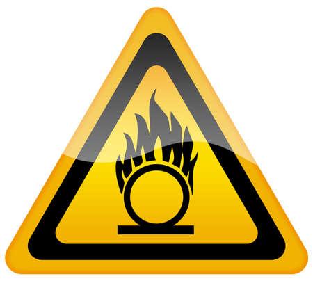 oxygen: Señal de advertencia de oxígeno de gas inflamable