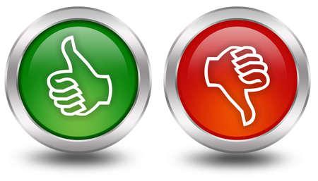 thumbs up icon: Pulgar arriba abajo botones de votaci�n