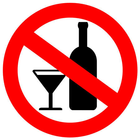 banned: No alcohol sign Stock Photo