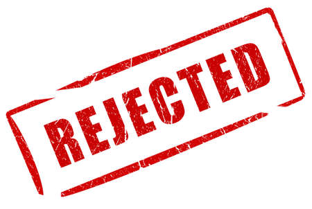 rejection: Rejected stamp