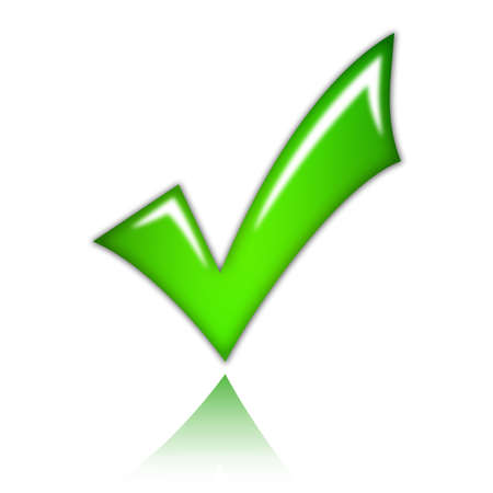 approving: Check mark tick Stock Photo