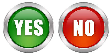 yes: Yes no buttons Stock Photo