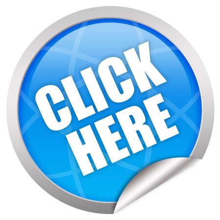 klik: Klik hier glas pictogram
