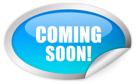hot announcement: Coming soon sticker
