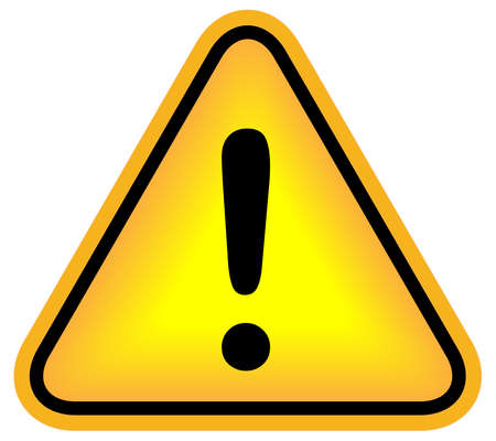 Attention exclamation sign Stock Photo - 8623318