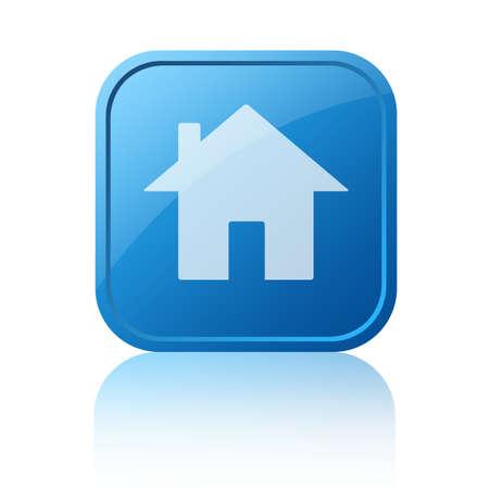 knop: Blauwe huis web knop