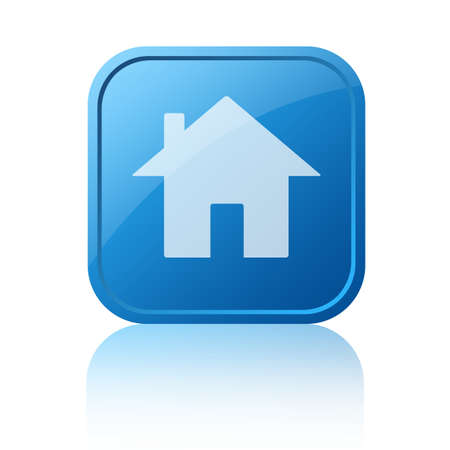 Blue home web button photo