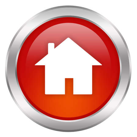 house illustration: Red home button