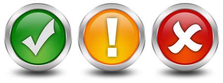 tick: Botones de seguridad Web Foto de archivo