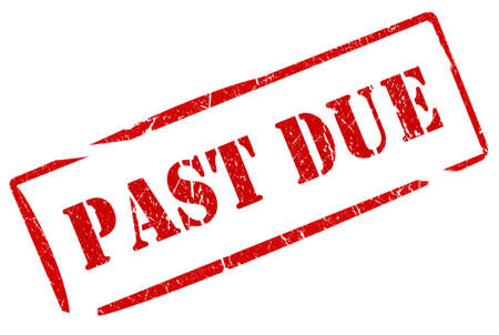 debtor: Past due stamp Stock Photo