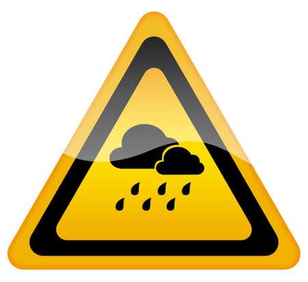 Rainy weather warning sign photo