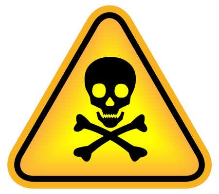 hazard: Skull danger sign Stock Photo