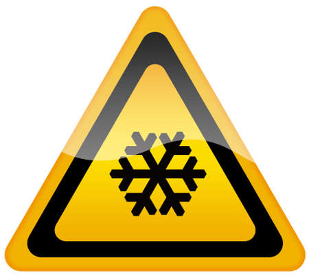 triangular warning sign: Snow warning sign