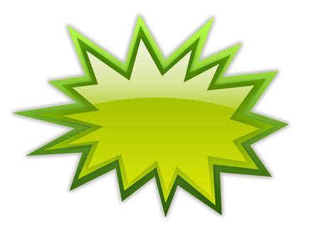 bursts: Icona verde boom