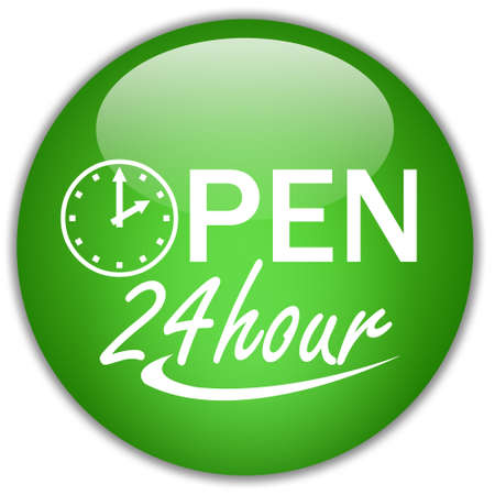 Open twenty four hour Stock Photo - 8885324
