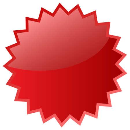 Icona stella rossa Archivio Fotografico